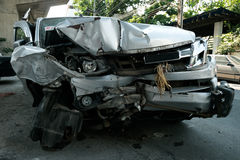 车祸在亚洲,泰国 库存照片