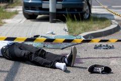 车祸的受害者 免版税库存照片