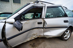 车祸,保险概念 免版税库存图片