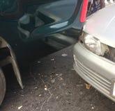 车祸,车祸的场面 免版税图库摄影