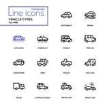 车类型-线被设置的设计象 向量例证