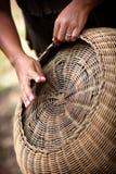 车落基印第安人的篮子 免版税库存图片