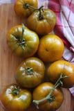 车落基印第安人的绿色祖传遗物蕃茄 免版税库存图片