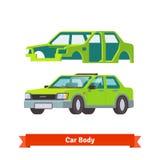 车身和对此制造的轿车汽车 库存照片