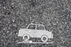 车轮固定夹符号 免版税库存图片