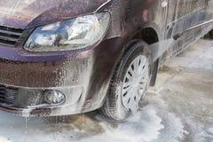 洗车轮子 库存照片