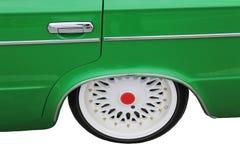 车轮,减速火箭的车-孤立 免版税库存照片