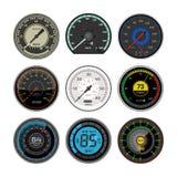 车速表传染媒介汽车速度仪表板盘区和加速功率测量例证套速度限制控制 皇族释放例证