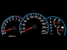 车速表例证传染媒介 免版税库存照片