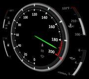车速表例证 库存图片