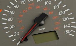 车速表灰色。 免版税库存照片
