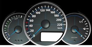 车速表 加速的控制板 免版税库存图片
