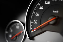 车速表细节 免版税库存图片