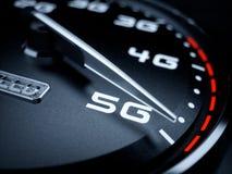 车速表5G演变 皇族释放例证