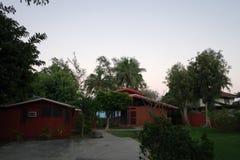 车道和Waimanalo海滨别墅 库存照片