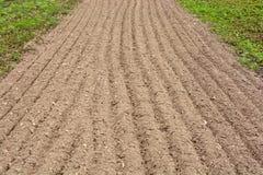 车道的耕地登陆的 免版税库存图片