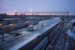 车里雅宾斯克俄国火车站 免版税图库摄影