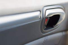 车门锁与皮革铣板 图库摄影