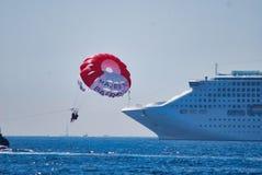 车,航行,海,地球,划线员,远洋班轮,降伞,滑道,救火船大气  图库摄影