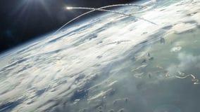 从轨道的核战争 影视素材