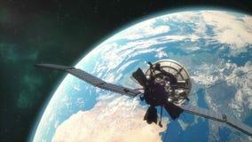 轨道的通讯卫星 皇族释放例证