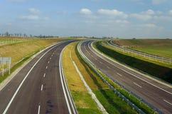 轨道路建设中在波兹南 免版税库存照片