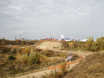 轨道阿穆尔河在鄂木斯克 免版税库存照片