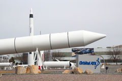 轨道ATK海角火箭队庭院 库存图片