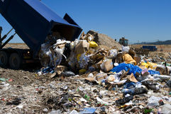 转储垃圾填埋 免版税库存图片
