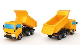 转储挖掘机海运卡车 向量例证