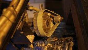 转动与一贝耳的齿轮 影视素材