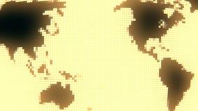 转动与固定的映象点位置的地球地图 皇族释放例证