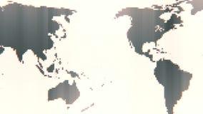 转动与固定的映象点位置的地球地图 向量例证