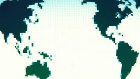 转动与固定的映象点位置的地球地图 库存例证