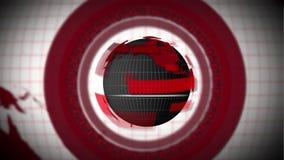 转动与圈子的红色地球地球 皇族释放例证