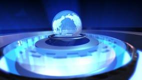 转动与结节微粒的地球地球的动画 皇族释放例证