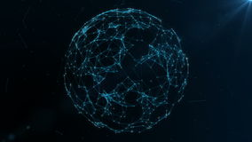 转动与结节的地球地球 全球性数字式连接 数据网络和交换行星地球上的 皇族释放例证