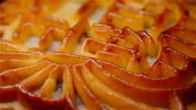 转动中国人的传统风格中国月饼意味纯净的五仁没有商标商标 影视素材
