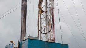 转动为石油钻井船具的顶面驱动系统 股票视频