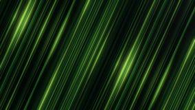 转动印象深刻的平直的绿线发光在黑背景和,无缝的圈 淡光的光芒转动 库存例证
