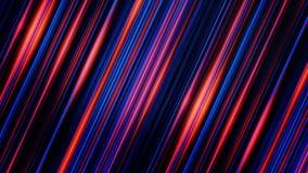 转动印象深刻的平直的蓝色和的红线发光在黑背景和,无缝的圈 淡光的光芒 皇族释放例证