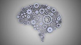 转动无缝的圈的脑子齿轮 影视素材
