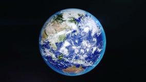 转动现实的地球 股票录像