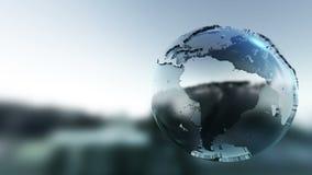 转动的世界地球 向量例证