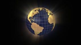 转动的地球在美国展开并且迅速移动 股票视频