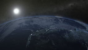 转动的地球的一个生气蓬勃的夹子 股票视频