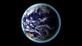 转动的地球-由NASA.gov的地球纹理 影视素材