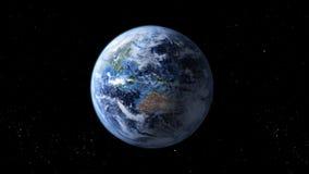 转动的地球 库存例证