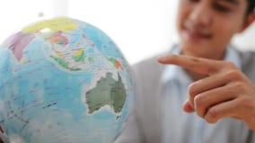 转动的地球 股票视频