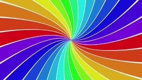 转动的彩虹螺旋光芒爆炸背景 皇族释放例证